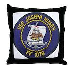 USS JOSEPH HEWES Throw Pillow