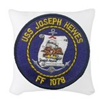 USS JOSEPH HEWES Woven Throw Pillow