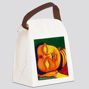 Resting his eyes Canvas Lunch Bag