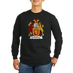 Mortlock Family Crest Long Sleeve Dark T-Shirt