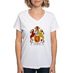 Mortlock Family Crest  Women's V-Neck T-Shirt