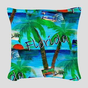 Florida Fun Woven Throw Pillow