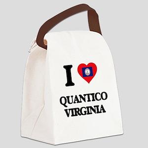 I love Quantico Virginia Canvas Lunch Bag