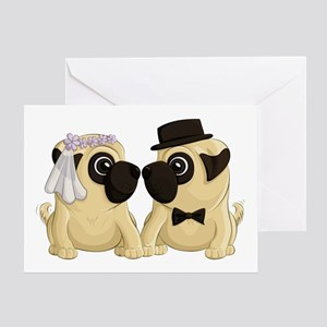 Wedding Pugs Greeting Cards