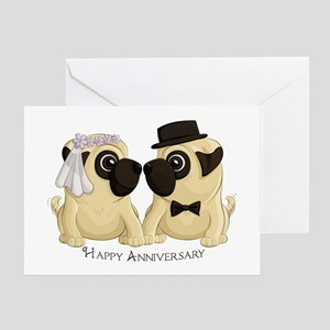 Anniversary Pugs Greeting Cards
