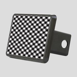 Black Plaid Rectangular Hitch Cover