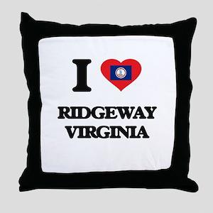 I love Ridgeway Virginia Throw Pillow