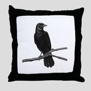Black Crow ~ Throw Pillow