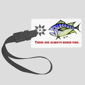 Always A Bigger Fish. Fish Retro Large Luggage Tag
