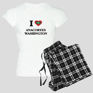I love Anacortes Washington Women's Light Pajamas
