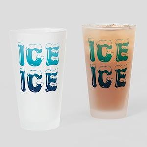 Ice Ice Maternity Design Drinking Glass