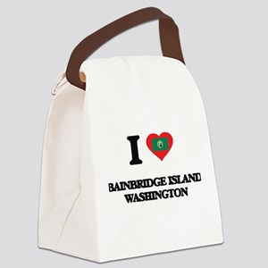 I love Bainbridge Island Washingt Canvas Lunch Bag