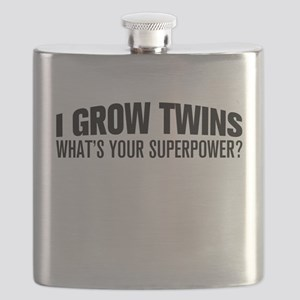 I Grow Twins, What's Your Superpower Flask