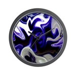 Blue Iris Home Decor Wall Clock