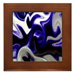 Blue Iris Home Decor Framed Tile