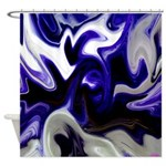 Blue Iris Home Decor Shower Curtain