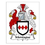 Montague Family Crest Small Poster