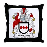 Montague Family Crest Throw Pillow