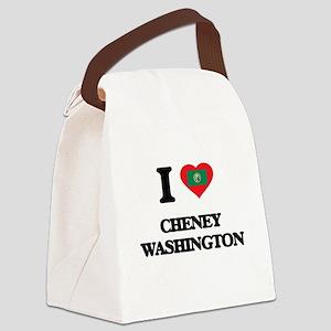 I love Cheney Washington Canvas Lunch Bag