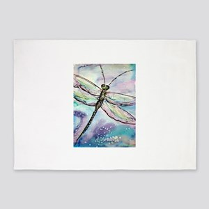 Dragonfly! Nature art! 5'x7'Area Rug