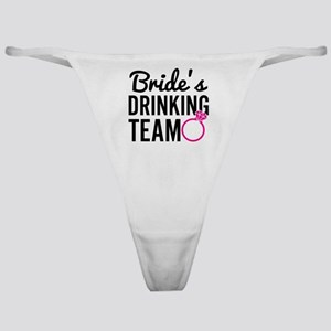 Bride's Drinking Team Classic Thong