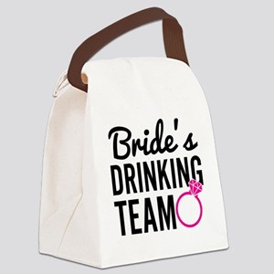 Bride's Drinking Team Canvas Lunch Bag