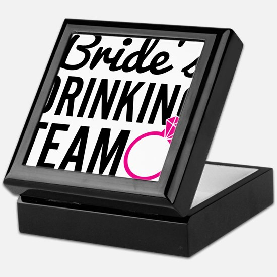 Bride's Drinking Team Keepsake Box