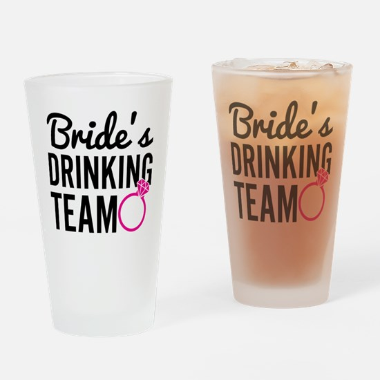Bride's Drinking Team Drinking Glass