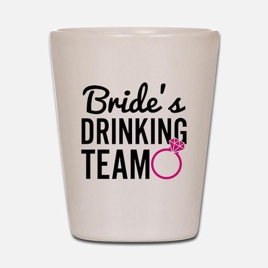 Bride's Drinking Team Shot Glass