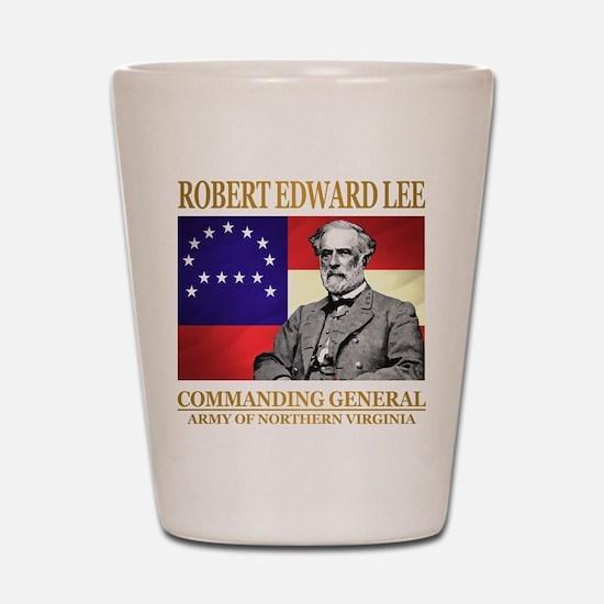 Robert E Lee Shot Glass