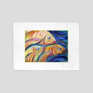 Fish, golden fish! 5'x7'Area Rug