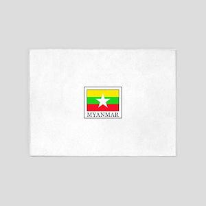 Myanmar 5'x7'Area Rug