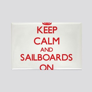 Keep Calm and Sailboards ON Magnets