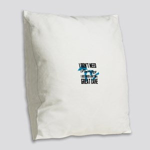Just need a Great Lake Burlap Throw Pillow