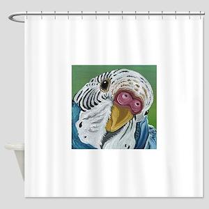 Budgie Parakeet Shower Curtain