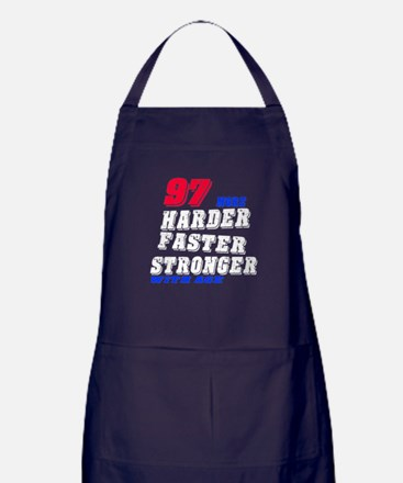 97 More Harder Faster Stronger With A Apron (dark)