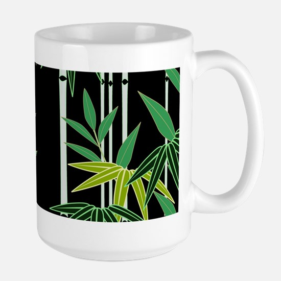 Bamboo on Black Large Mug