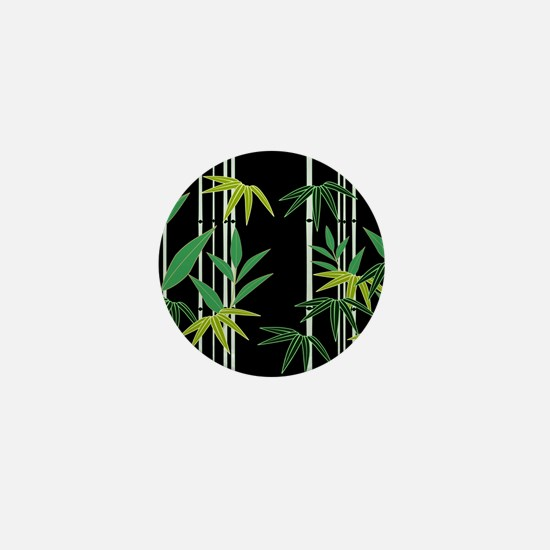 Bamboo on Black Mini Button