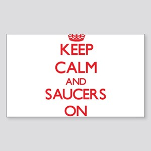 Keep Calm and Saucers ON Sticker