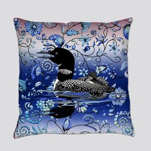 Blue Onion Loon Everyday Pillow