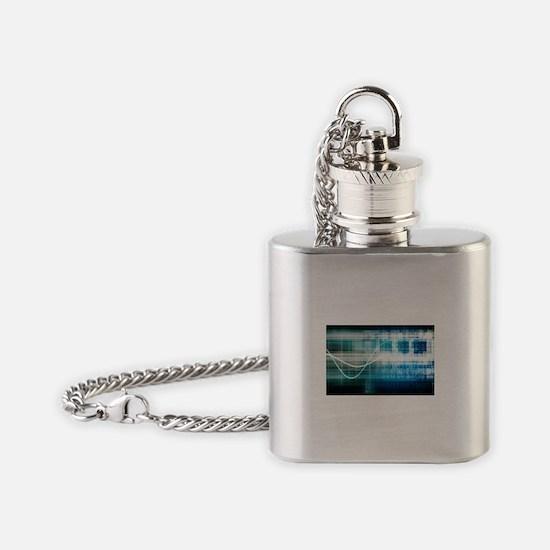 Unique Molecular design Flask Necklace