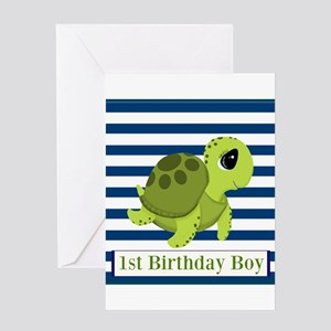 1st Birthday Boy Greeting Cards