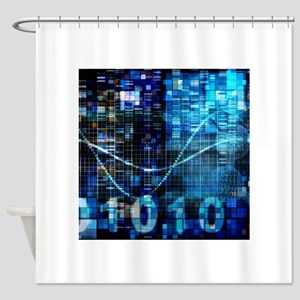 Digital Image Background with Binary Code Technolo