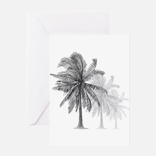Palm Trees Greeting Cards