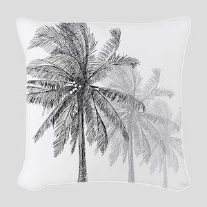 Palm Trees Woven Throw Pillow