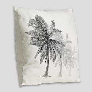 Palm Trees Burlap Throw Pillow