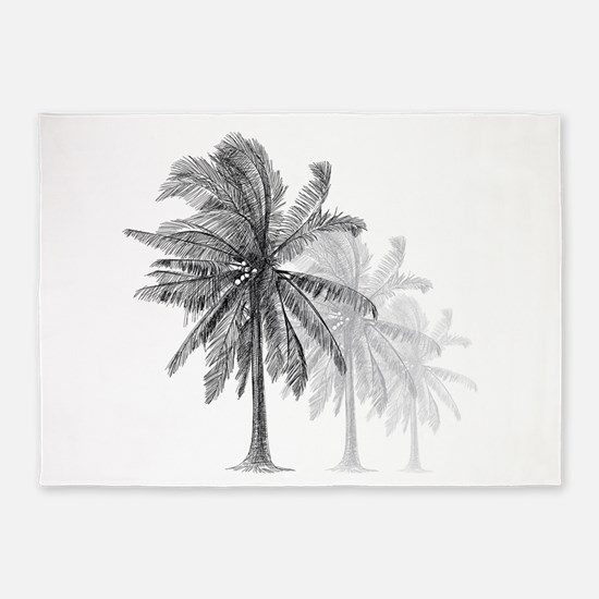 Palm Trees 5'x7'Area Rug