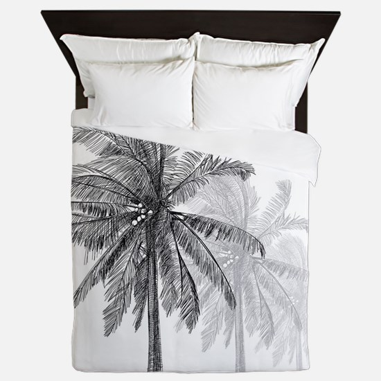 Palm Trees Queen Duvet