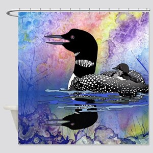 Loon On A Lake Shower Curtain