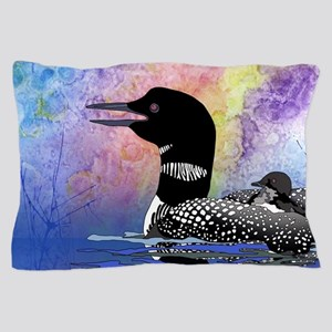 Loon on a lake Pillow Case